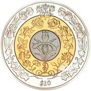 10 Dollars - Elizabeth II (Platinum wedding) – revers