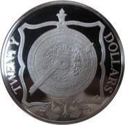 20 dollars - Elizabeth II (3eme effigie; laiton nocturne) – revers