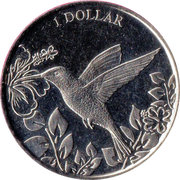 1 Dollar - Elizabeth II (Tiny Bee Hummingbird) – revers