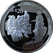 25 Dollars (Colomb expliquant ses plans de voyage) – revers