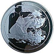 25 Dollars - Elizabeth II (Naufrage du Santa Maria) – revers