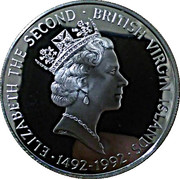 25 Dollars - Elizabeth II (Columbus before King Ferdinand and Queen Isabella) – avers
