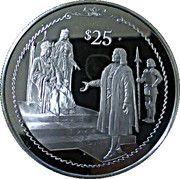 25 Dollars - Elizabeth II (Columbus before King Ferdinand and Queen Isabella) – revers