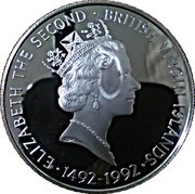25 Dollars - Elizabeth II (Columbus claiming the newly discovered land) – avers