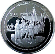 25 Dollars - Elizabeth II (Columbus getting provisions for his ships) – revers