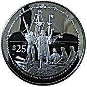 25 Dollars - Elizabeth II (Columbus on shore) – revers