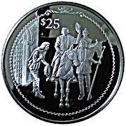 25 Dollars - Elizabeth II (Columbus on horseback) – revers