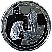 25 Dollars - Elizabeth II (Columbus bowing before King Ferdinand) – revers