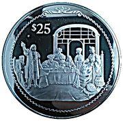 25 Dollars - Elizabeth II (Royal banquet) – revers