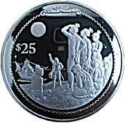 25 Dollars - Elizabeth II (Columbus predicting lunar eclipse) – revers