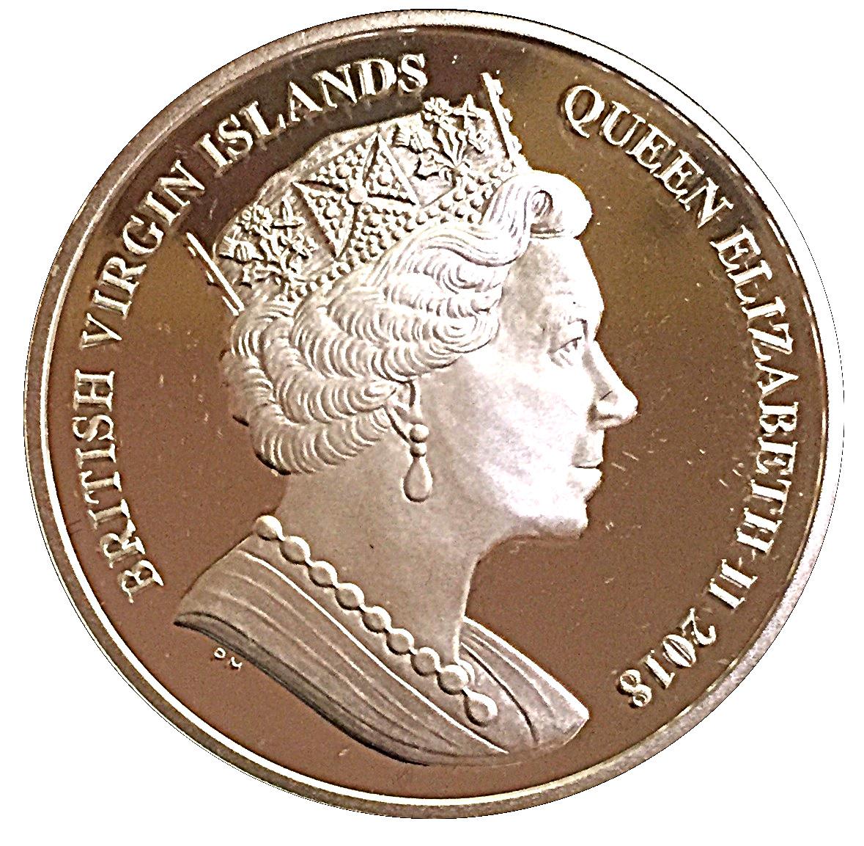 1 Dollar Elizabeth Ii Pegasus 2018 îles Vierges Britanniques