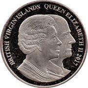 1 Dollar - Elizabeth II (Sapphire Jubilee) – avers
