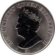 1 Dollar - Elizabeth II (Sapphire Jubilee) – revers