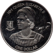 1 Dollar - Elizabeth II (The 90th anniversary of Queen Elizabeth II) – revers