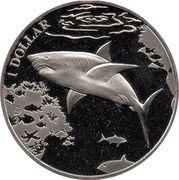 1 Dollar - Elizabeth II (Great white shark) – revers
