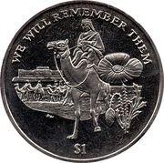 1 Dollar - Elizabeth II (Lawrence of Arabia) – revers