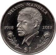 1 Dollar - Elizabeth II (Nelson Mandela) – revers