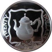 20 dollars - Elizabeth II (3eme effigie; pot a thé) – revers