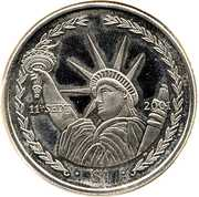 1 dollar statue de la liberté – revers