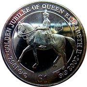1 Dollar - Elizabeth II (Jubilé d'or) – revers