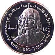 $10 (Elizabeth II 4th portrait) Gold – revers