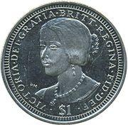 1 Dollar - Elizabeth II (Reine Victoria) – revers