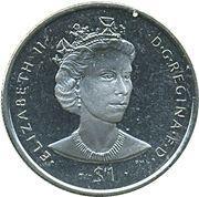 1 Dollar - Elizabeth II (Queen Elizabeth II) – revers