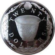 20 dollars - Elizabeth II (3eme effigie; Coupe porcelaine) – revers