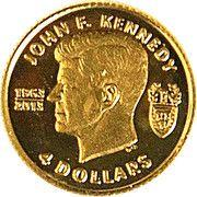 4 Dollars (50ème anniversaire de John F. Kennedy) – revers