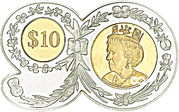 10 Dollars - Elizabeth II (90th birthday) – revers