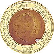 75 Dollars - Elizabeth II (Benjamin Franklin stamp) – avers