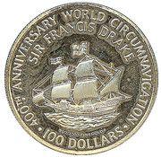 100 Dollars - Elizabeth II – revers