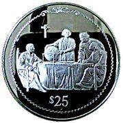 25 dollars - Elizabeth II (4ème effigie - découverte de l'Amérique) – revers