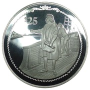 25 Dollars - Elizabeth II (Columbus aboard ship) – revers