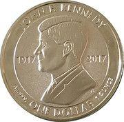1 Dollar - Elizabeth II (100th Anniversary of birth of John F. Kennedy – revers