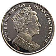 1 Dollar - Elizabeth II ( Sapphire Coronation) – avers