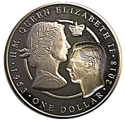1 Dollar - Elizabeth II ( Sapphire Coronation) – revers