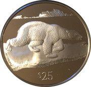 25 Dollars - Elizabeth II (Polar Bear) – avers