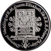 1 Dollar - Elizabeth II (The Wedding Programme) – revers