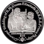 1 Dollar - Elizabeth II (Honeymoon at Birkhall) – revers