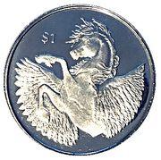 1 Dollar - Elizabeth II (Pégase) – revers