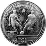 1 dollar Coupe du monde de football Russie 2018 – revers