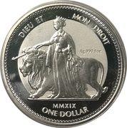 1 Dollar - Elizabeth II (Una & Lion - Reverse Frosted Bullion) – revers