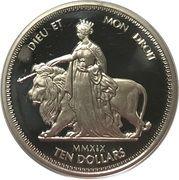 10 Dollars - Elizabeth II (Una & Lion) – revers
