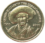 1 Dollar-Elizabeth II (Queen Mother's 100th Birthday) – revers