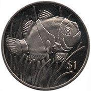1 Dollar - Elizabeth II (The Clownfish) – revers