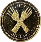 50 dollars - Elizabeth II (3eme effigie) – revers