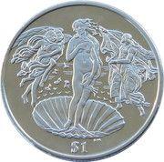 1 Dollar - Elizabeth II (4th portrait; Birth of Venus) – revers