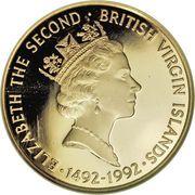 500 Dollars - Elizabeth II (Voyage of Discovery) – avers