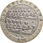 10 Dollars - Elizabeth II (Rowing) – revers